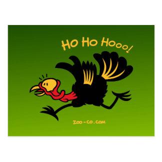 ¡Navidad Turquía que corre lejos! Postal