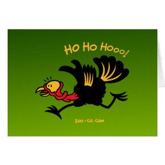 ¡Navidad Turquía que corre lejos! Tarjeta De Felicitación