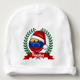 Navidad venezolano muy sonriente de la bandera gorrito para bebe