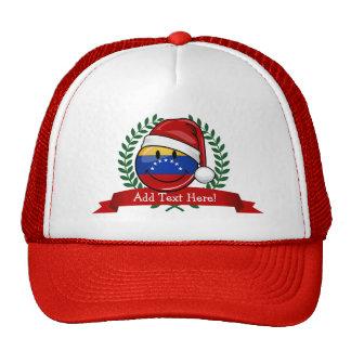 Navidad venezolano muy sonriente de la bandera gorros
