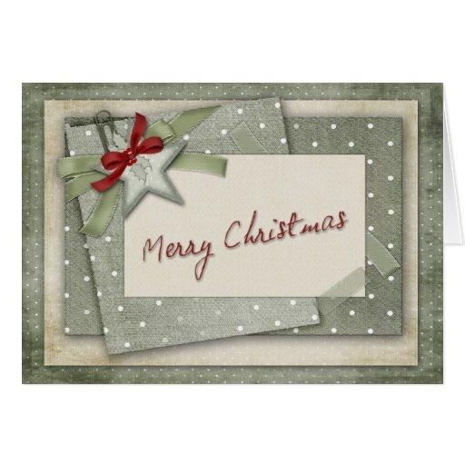 Navidad verde del pedazo que saluda felicitacion