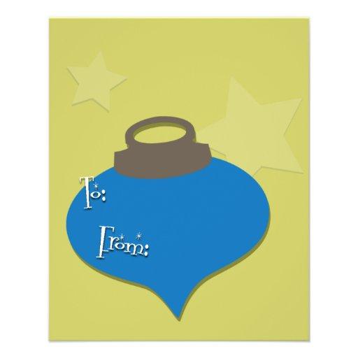 Navidad verde oliva retro del ornamento flyer personalizado
