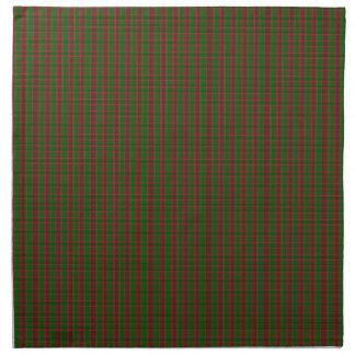 Navidad verde rojo de la tela escocesa servilletas de papel