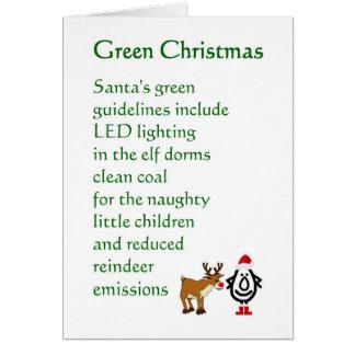 Navidad verde - un poema divertido del navidad felicitación