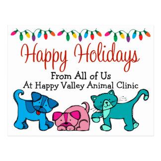 Navidad - veterinarios - Groomers - SRF Tarjetas Postales