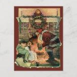 Navidad vintage, el victoriano Santa Claus Niños