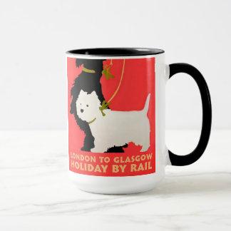 Navidad Westie y Scoty de la taza del día de