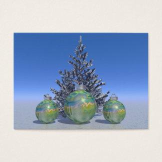 navidad y bolas y árbol tarjeta de negocios