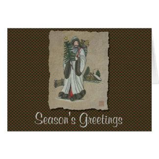 Navidad y juguetes del padre tarjeta de felicitación
