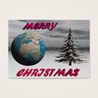 navidad y nieve del mundo tarjeta de negocios