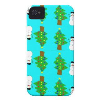 navidad y snowman.ai funda para iPhone 4 de Case-Mate