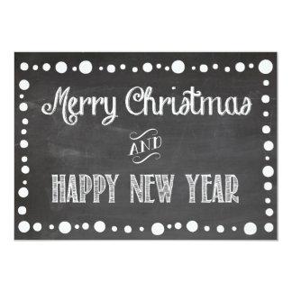Navidad y tarjeta del día de fiesta de la pizarra invitación 12,7 x 17,8 cm