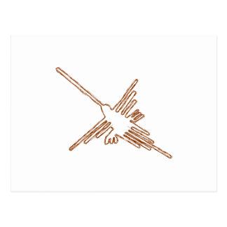 Nazca alinea bosquejo del colibrí postal