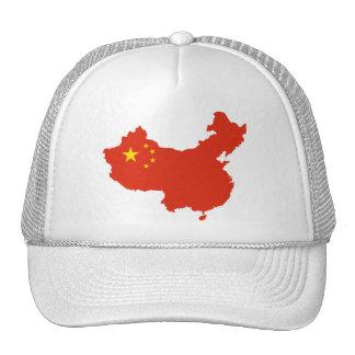 NC del Bandera-mapa de China Gorras De Camionero