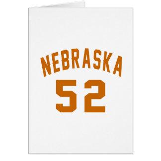 Nebraska 52 diseños del cumpleaños tarjeta