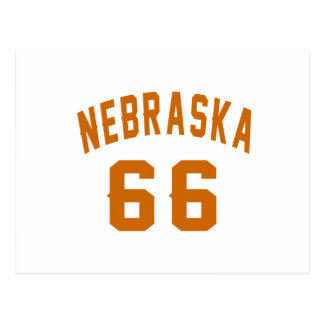 Nebraska 66 diseños del cumpleaños postal