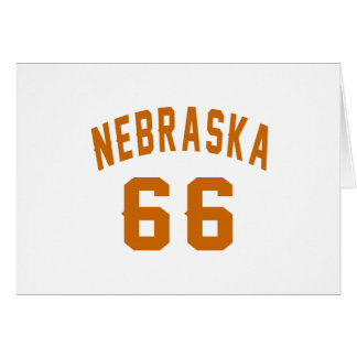 Nebraska 66 diseños del cumpleaños tarjeta