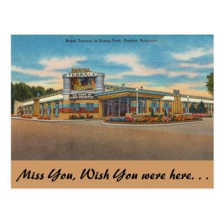 Nebraska, terraza real, parque del Peony, Omaha Postal