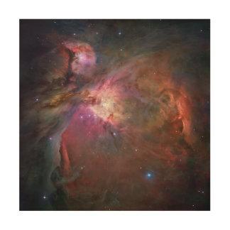 """Nebulosa 12"""" de Orión arte de madera cuadrado"""