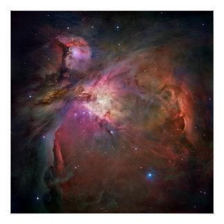 """Nebulosa 20"""" de Orión poster cuadrado"""