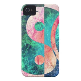 Nebulosa abstracta de Yin Yang Funda Para iPhone 4