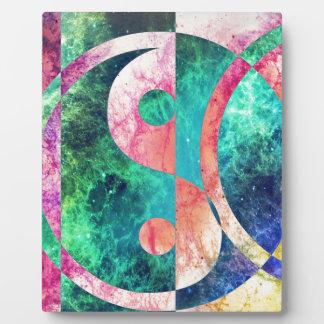 Nebulosa abstracta de Yin Yang Placa Expositora
