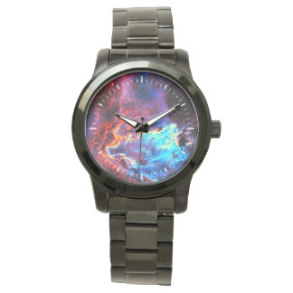Nebulosa compuesta de la estrella del color reloj de pulsera