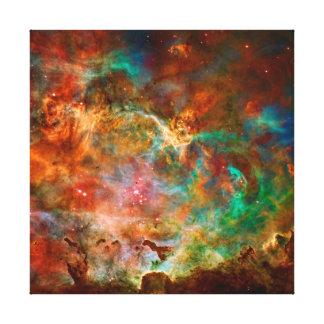 Nebulosa de Carina en la constelación de Argo Impresión En Lienzo Estirada