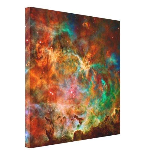Nebulosa de Carina en la constelación de Argo Navi Impresión En Lienzo Estirada