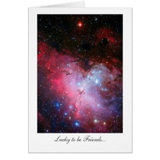 Nebulosa de Eagle, 16 más sucios - afortunado ser Tarjeta De Felicitación