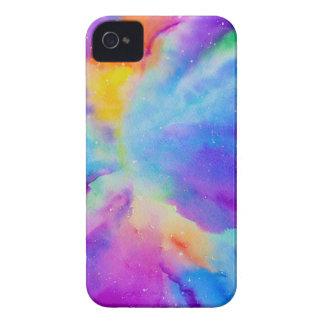 Nebulosa de la acuarela funda para iPhone 4