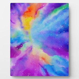 Nebulosa de la acuarela placa expositora