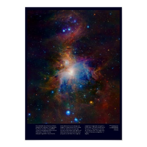 Nebulosa de Orión con las estrellas el gas y las