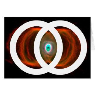 Nebulosa del reloj de arena de Piscis de la vejiga Tarjeta De Felicitación