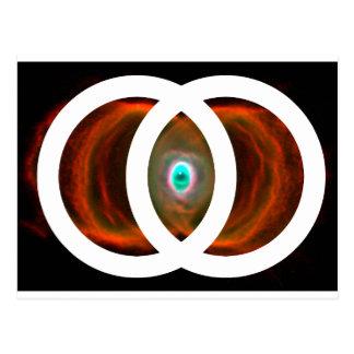 Nebulosa del reloj de arena de Piscis de la vejiga Postal
