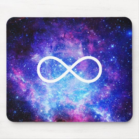 Nebulosa del símbolo del infinito alfombrilla de ratón