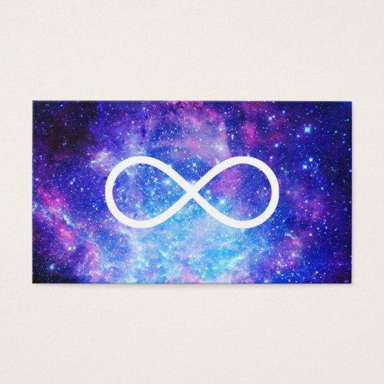 Nebulosa del símbolo del infinito tarjeta de negocios