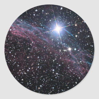 Nebulosa del velo de la NASA ESA Pegatina Redonda