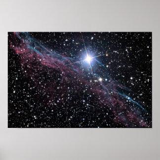 Nebulosa del velo de NASAs Poster