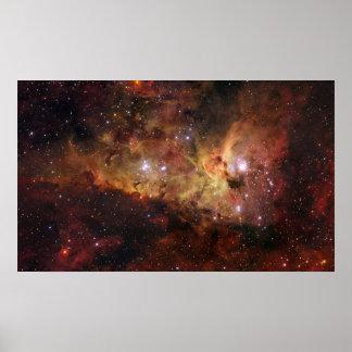 Nebulosa Eta Carinae de Carina Póster