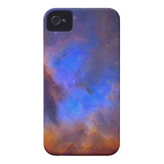 Nebulosa galáctica abstracta con la nube cósmica 2 carcasa para iPhone 4