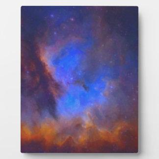 Nebulosa galáctica abstracta con la nube cósmica 2 placa expositora