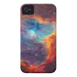 Nebulosa galáctica abstracta con la nube cósmica 4 carcasa para iPhone 4