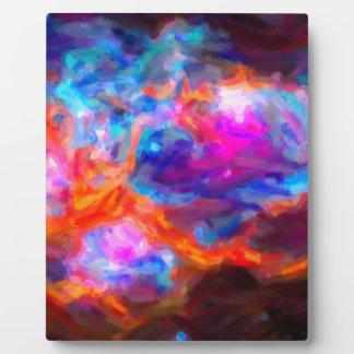 Nebulosa galáctica abstracta con la nube cósmica 7 placa expositora