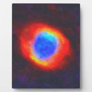 Nebulosa galáctica abstracta con la nube cósmica 9 placa expositora