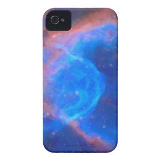 Nebulosa galáctica abstracta con la nube cósmica carcasa para iPhone 4