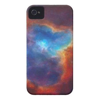 Nebulosa galáctica abstracta con la nube cósmica funda para iPhone 4