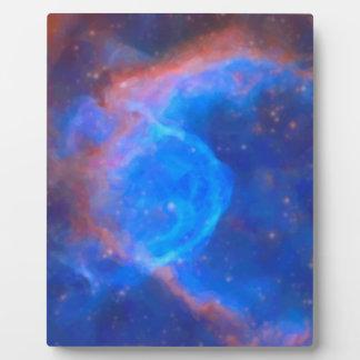 Nebulosa galáctica abstracta con la nube cósmica placa expositora