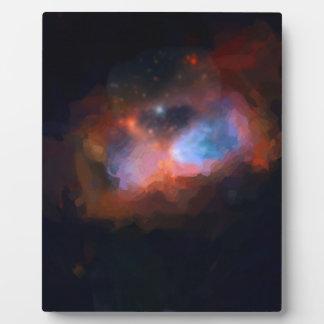 nebulosa galáctica abstracta ningún 1 placa expositora