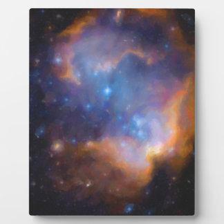 nebulosa galáctica abstracta ningunos 2 placa expositora